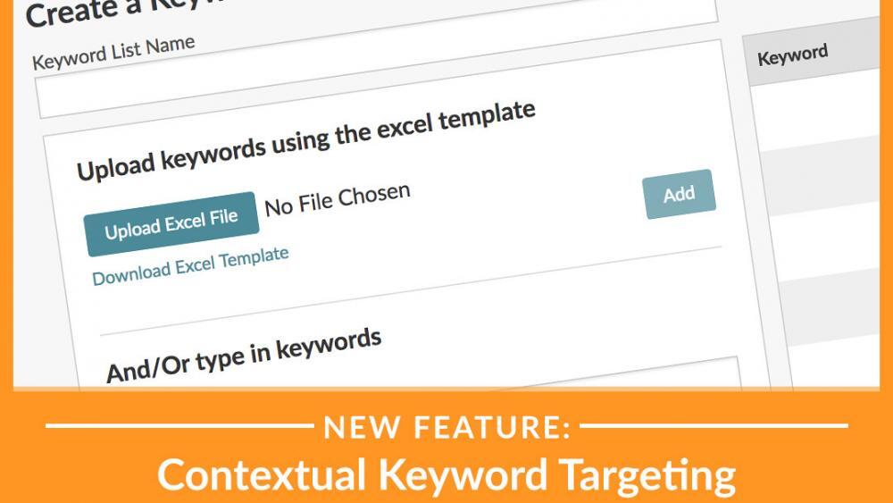 New feature: contextual keyword targeting