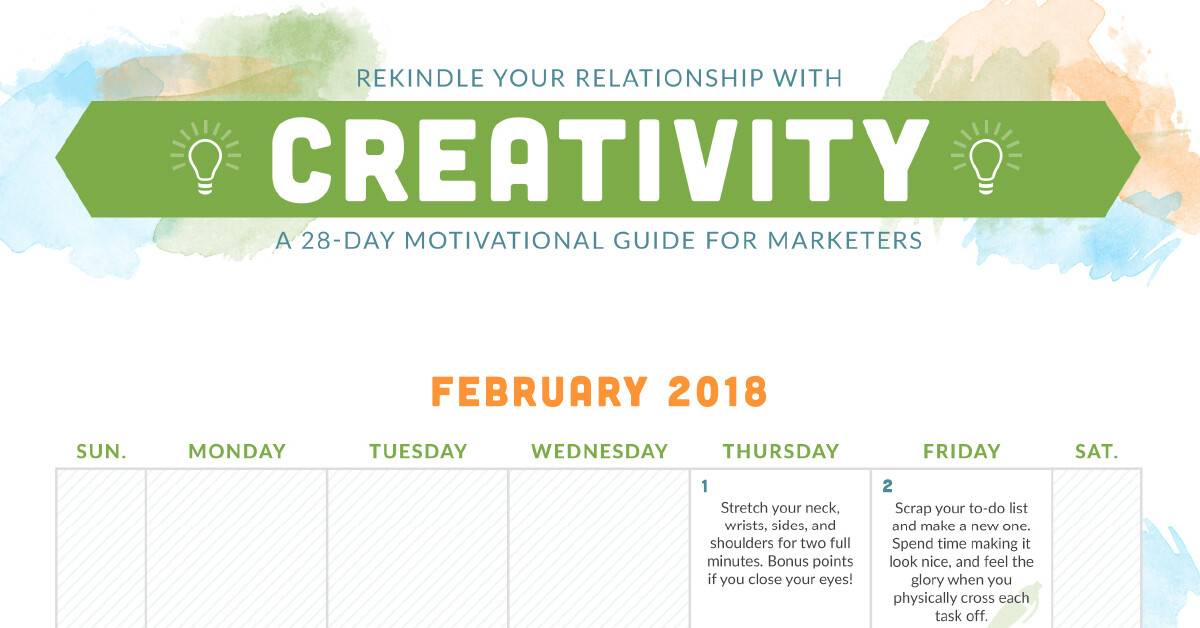 February creativity calendar by Choozle