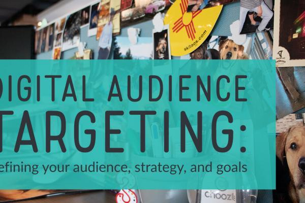 Digital audience targeting: Defining your audience, strategy, and goals