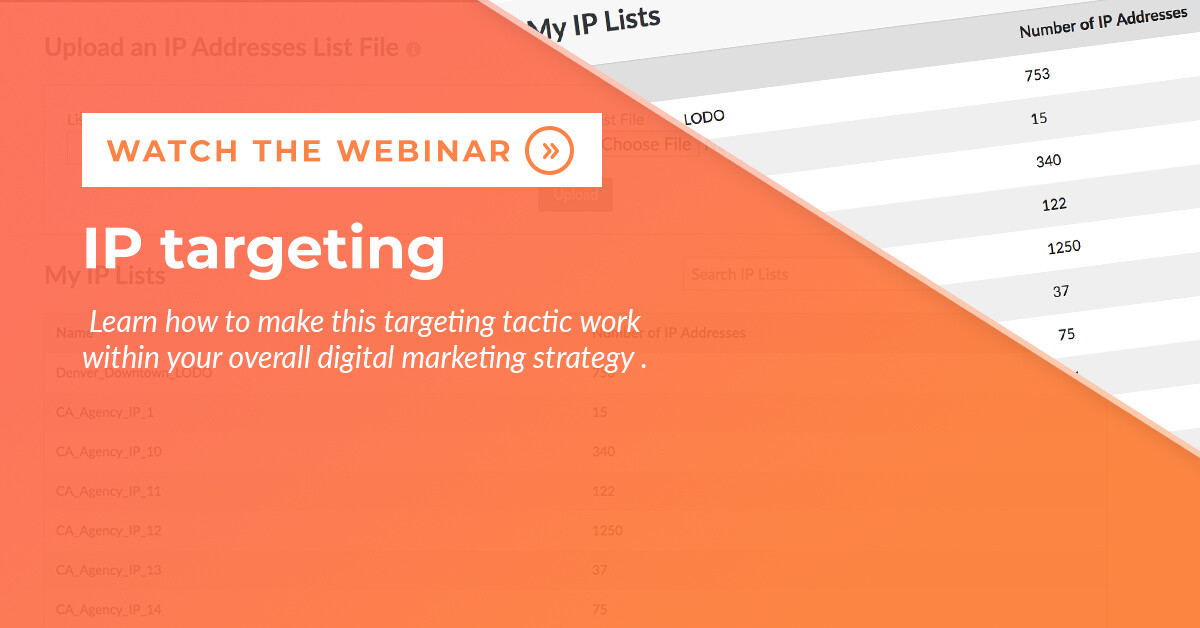 IP Targeting Webinar Blog Post