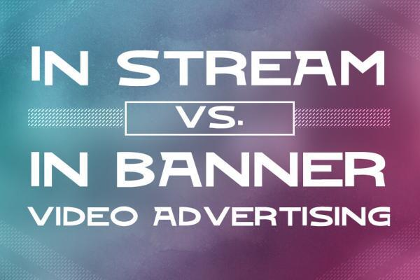 In stream vs. in banner video advertising