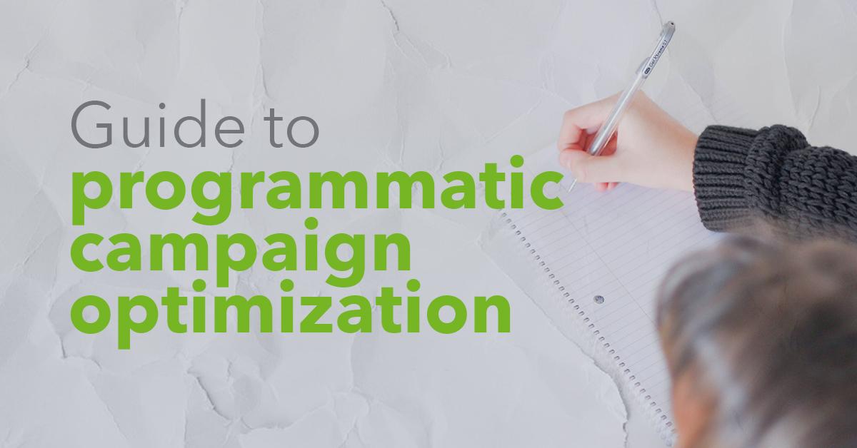 Guide to programmatic campaign optimization